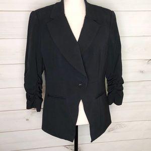 Apostrophe Tuxedo Style Black Blazer Sz Lg